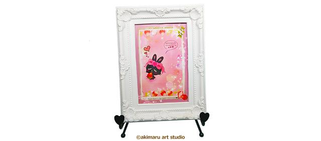ポストカード-ショコラ-akimaru art shop-猫&タヌキ&うさぎグッズ