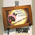 ポストカード-akimaru art shop-猫&タヌキ&うさぎグッズ紹介